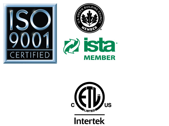 Certifications logos, vary by model