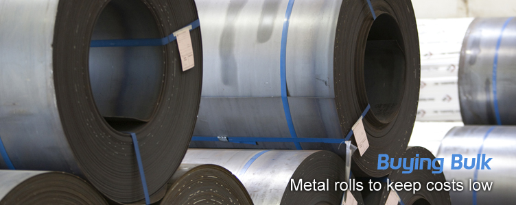 Buying bulk metal rolls to keep costs low