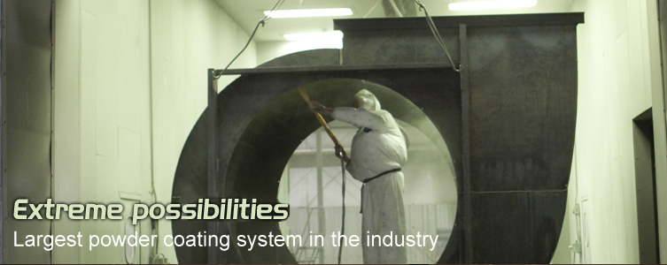 Largest powder coating system in the industry